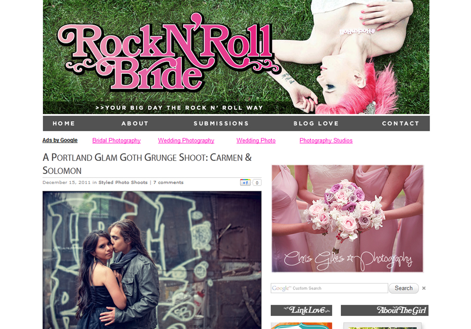 Rock N Roll Bride Portland Goth Glam Grunge Wedding