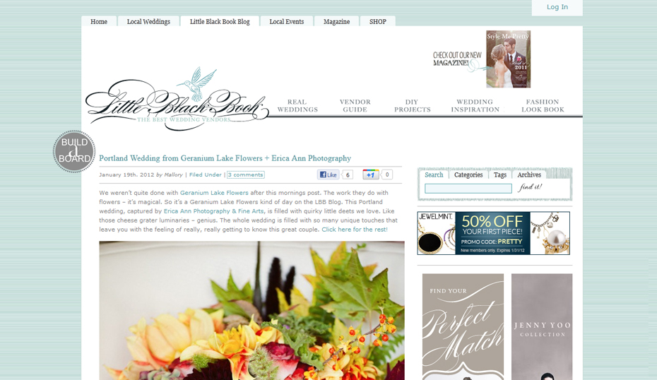 Style Me Pretty Featured Wedding