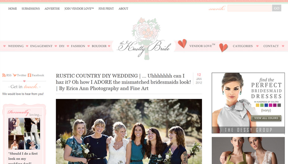 The Knotty Bride Dalles Ranch wedding feature