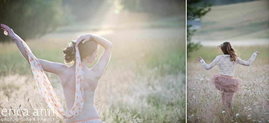 Newberg Outdoor Sunrise Boudoir Photoshoot