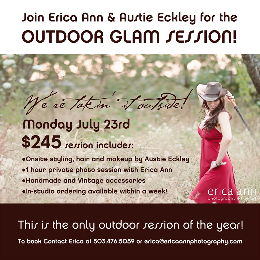 Outdoor glam session with Erica Ann and Austie Eckley