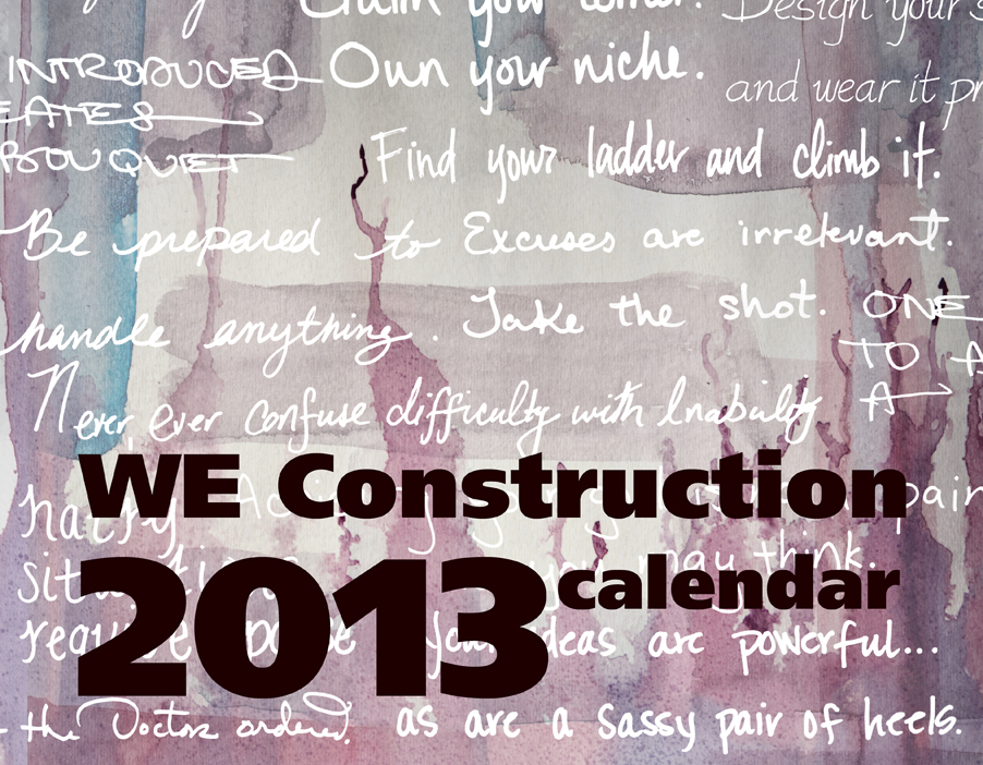 We Construction Calendar Cover
