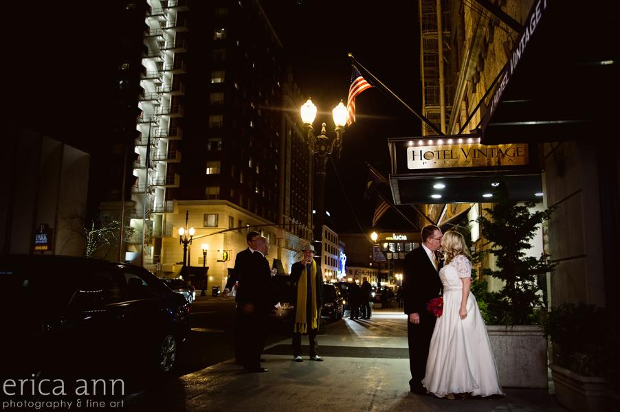 Vintage plaza hotel portland wedding night wedding