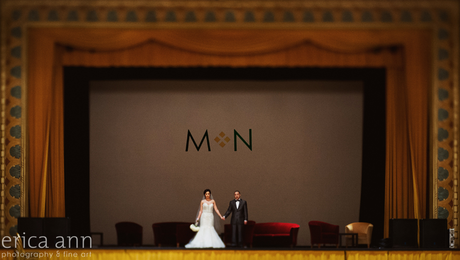 Downtown Portland Oregon Museum Wedding Photographer Stage