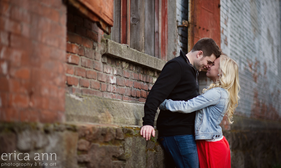 Downtown Portland Engagement Photography
