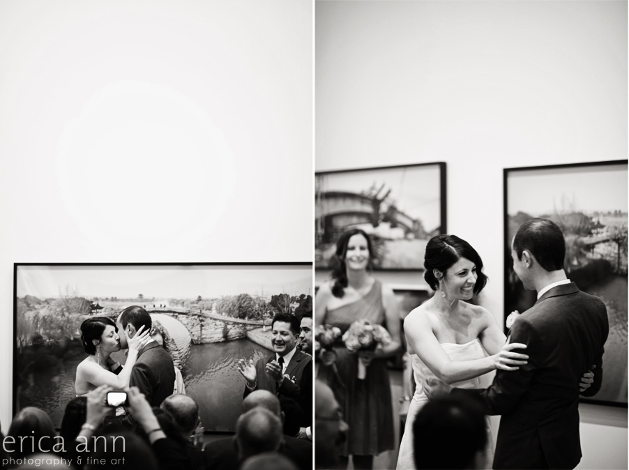 Downtown Portland Blue Sky Art Gallery Wedding Photography
