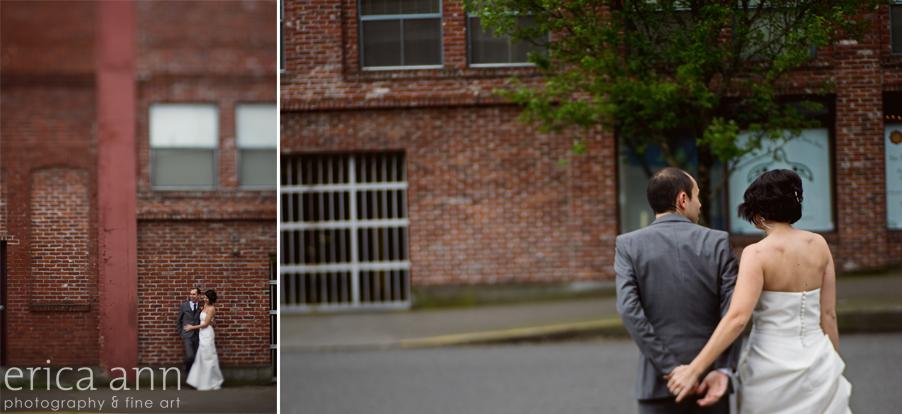 Downtown Portland PDX Pedicab Wedding Photography
