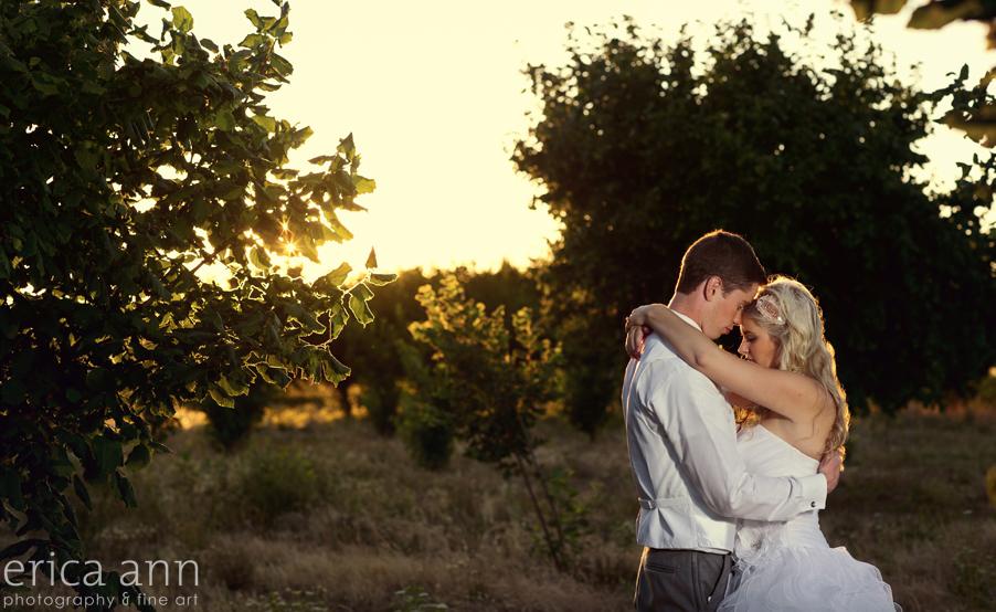 Green Villa Barn Garden Wedding Photography Sunset