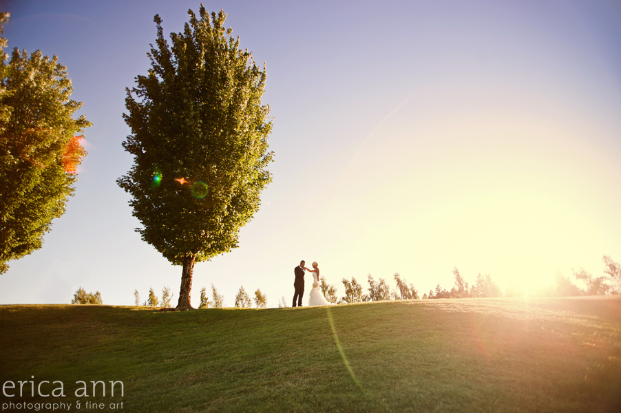 Langdon Farms Wedding Sunset