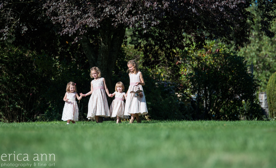 Long Farm Barn Wedding Photographers flower girls