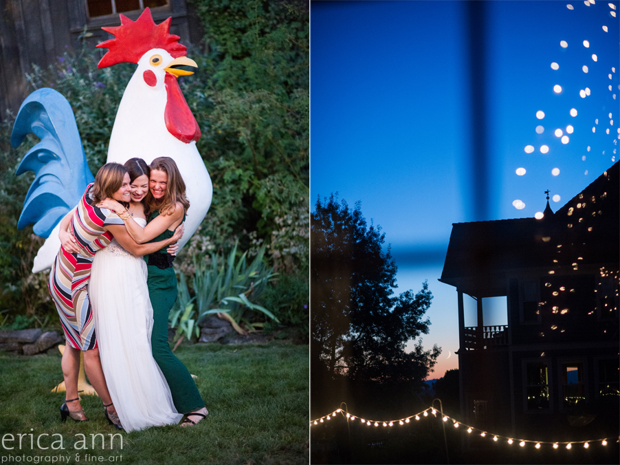 Long Farm Barn Wedding Photographers crescent moon