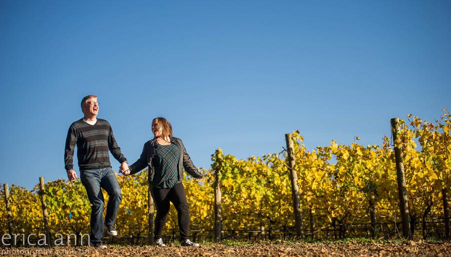 Vista hills vineyard engagement session