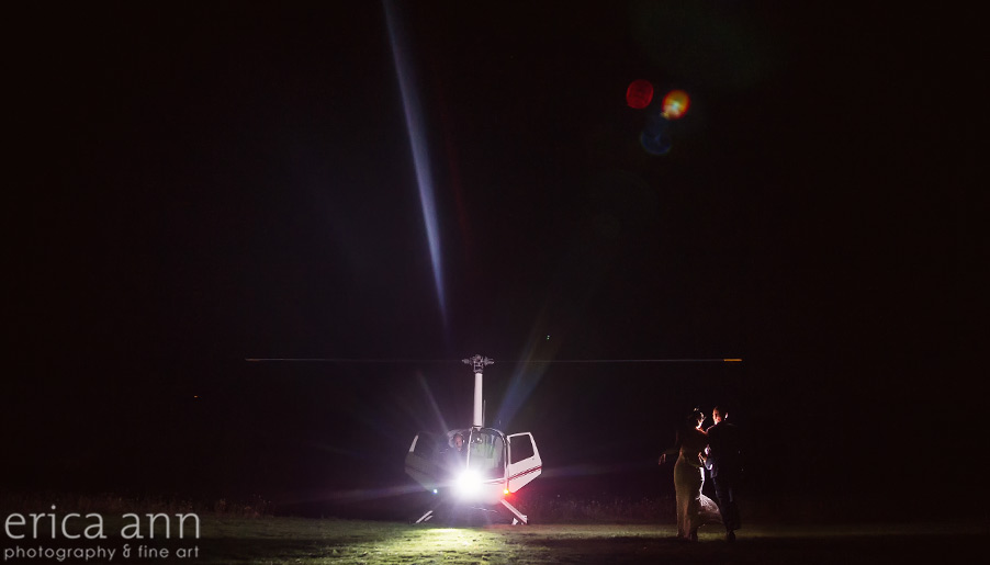 Helicopter Wedding Exit