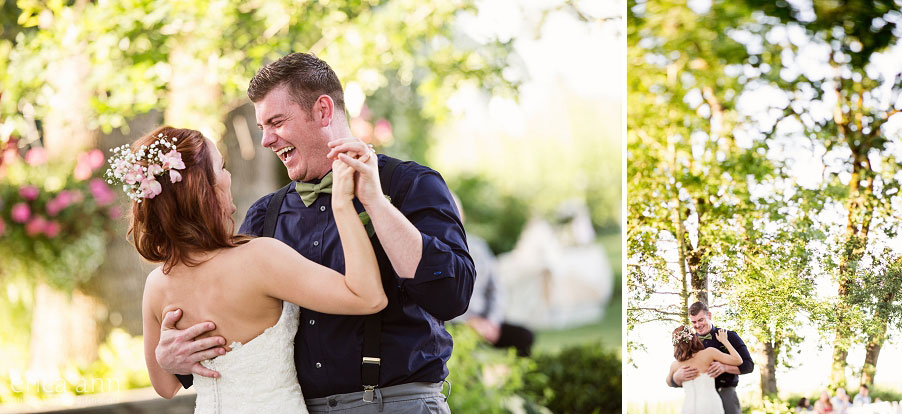 Wilmes Hop Farms Wedding first dance