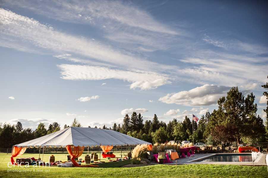 Crazy Backyard Tent Wedding Reception