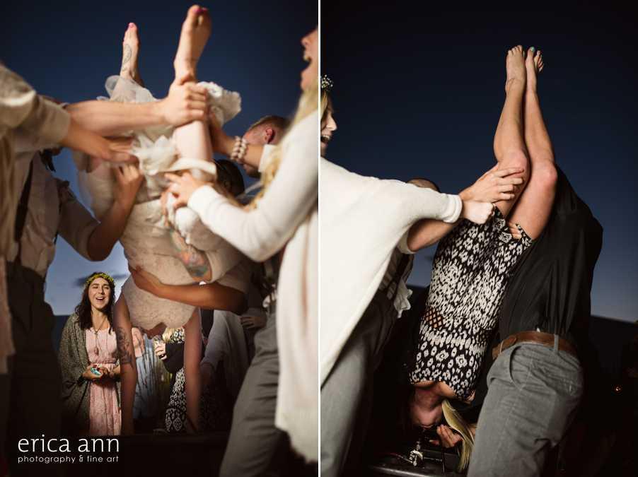 Backyard wedding kegstand