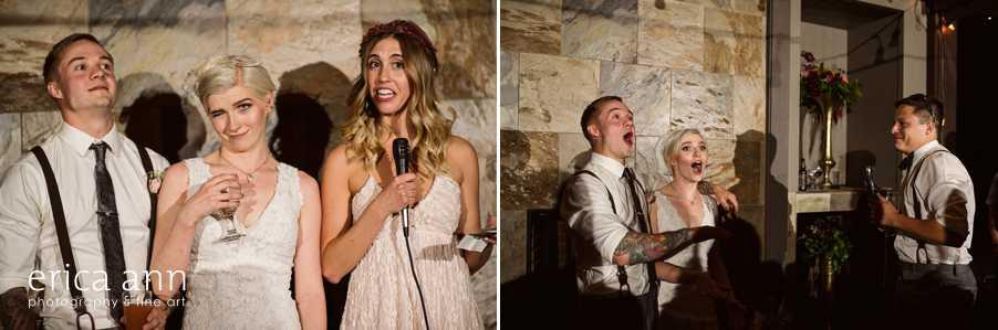 crazy Backyard wedding drunk speeches