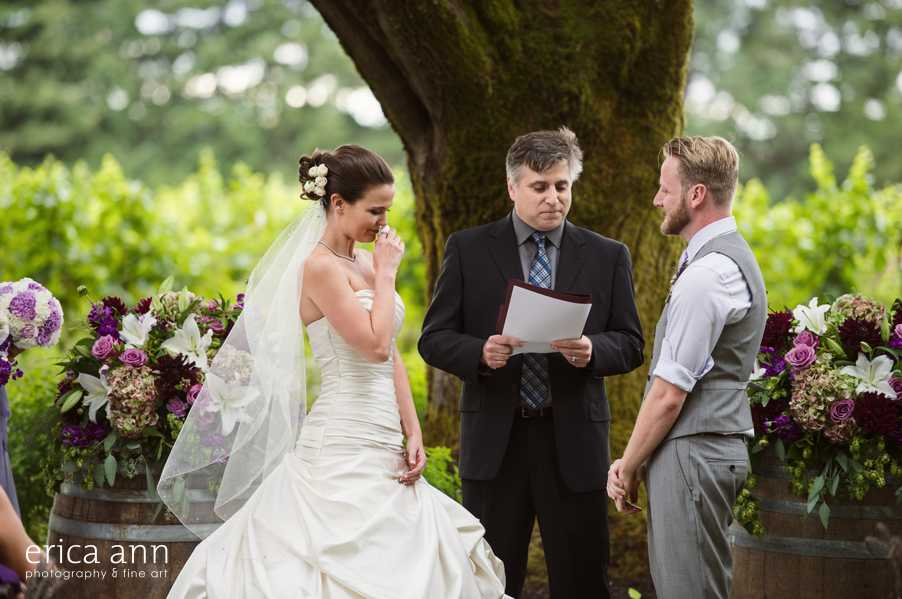 Ponzi Winery Wedding Ceremony