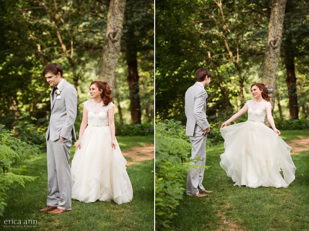 Bridal Veil Lakes Wedding First Look