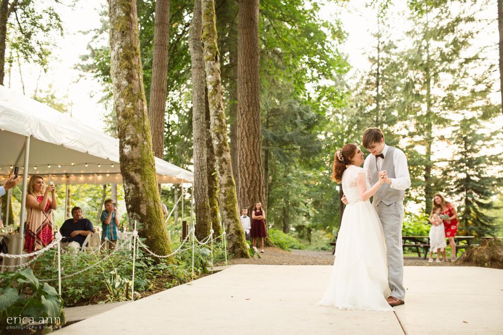 Bridal Veil Lakes Wedding First Dance