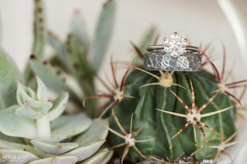California beach wedding rings