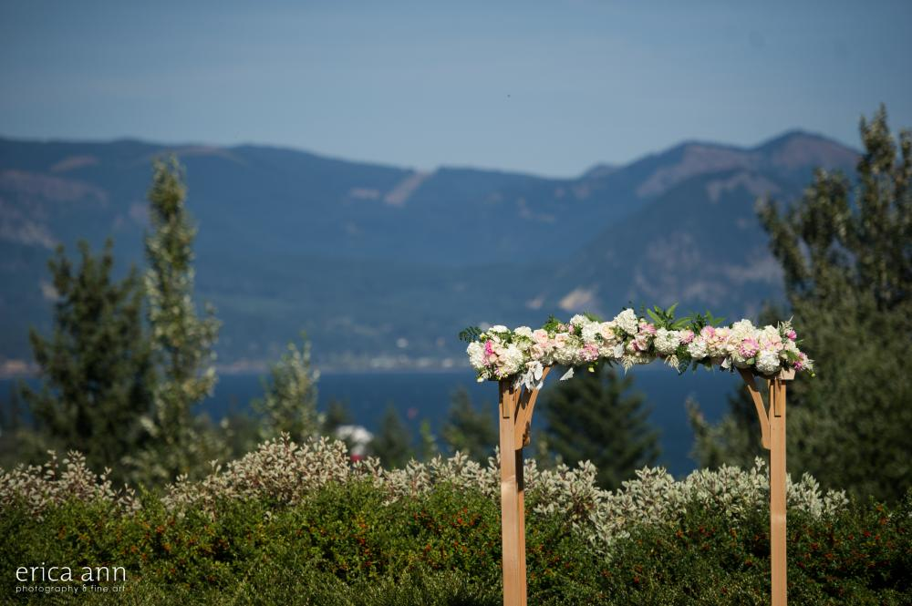 Skamania Lodge Wedding Ceremony Arch