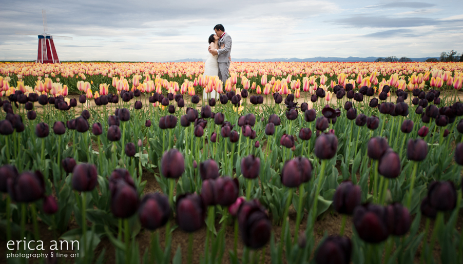 Tulip Festival Bridal Photos