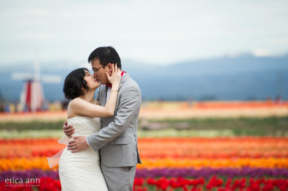 Tulip Festival Bridal Photos