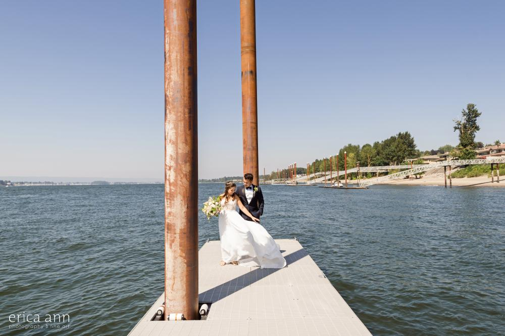 Columbia River Wedding