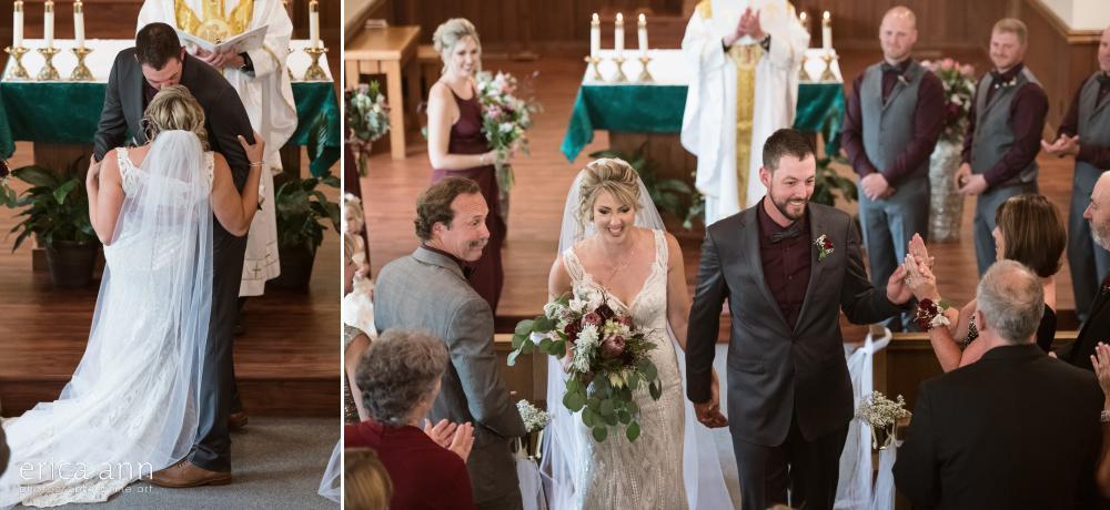 bride and groom catholic wedding