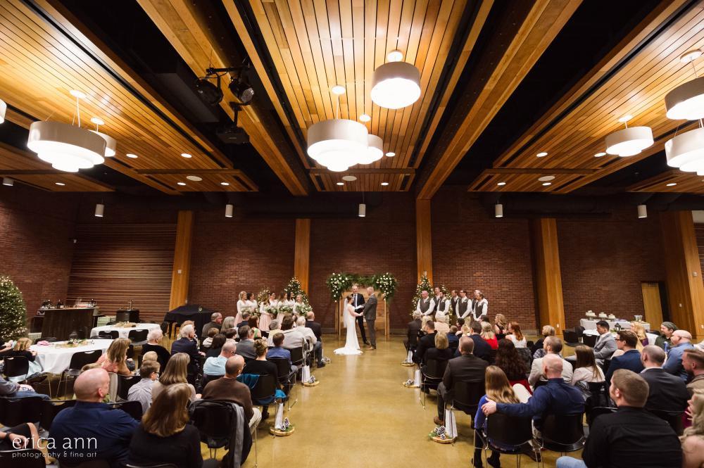 Chehalem Cultural Center Winter Wedding