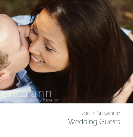 Susanne and Joe Engagement Guest Book Album