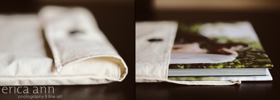 Canvas Cover Wedding Album Case