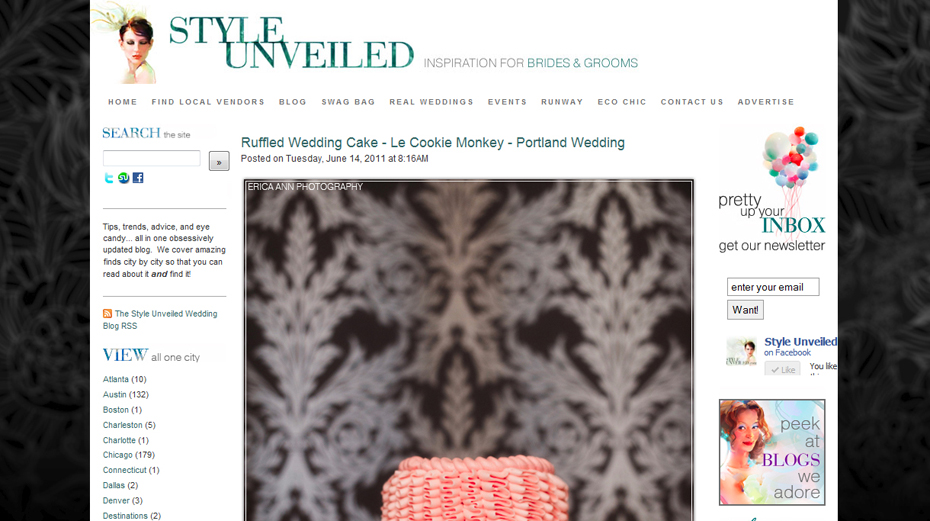 Erica Ann Photography_Style Unveiled Feature_Rococo Ruffle Cake