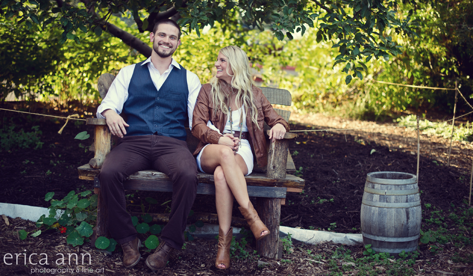 Ashley and Curtis Edgefield engagement session Troutdale Oregon Photographer