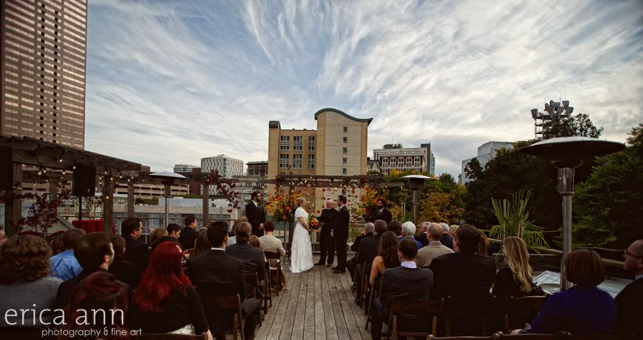 Megan and Mark - Hotel Vintage Plaza Reception - Desoto Rooftop Wedding - Portland Oregon