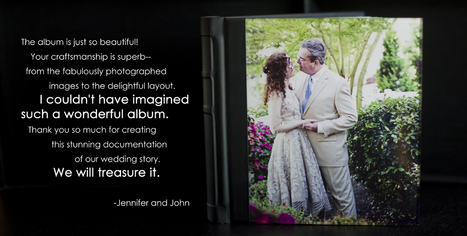 Jennifer and John Flush Mount Album