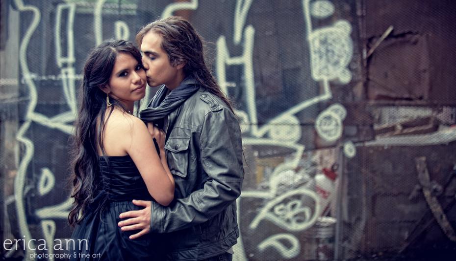 Portland Grunge Inspiration Photoshoot Twilight Wedding