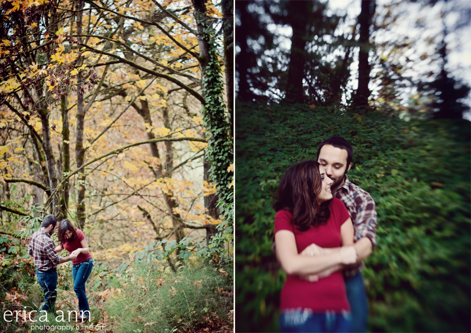 McMinnville Rainy Day Engagement Photography