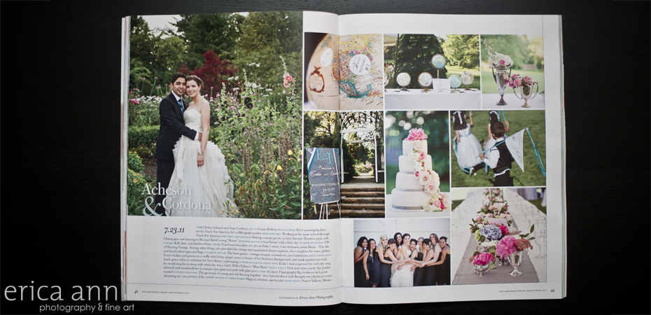 Portland Bride and Groom Magazine Real Wedding Feature
