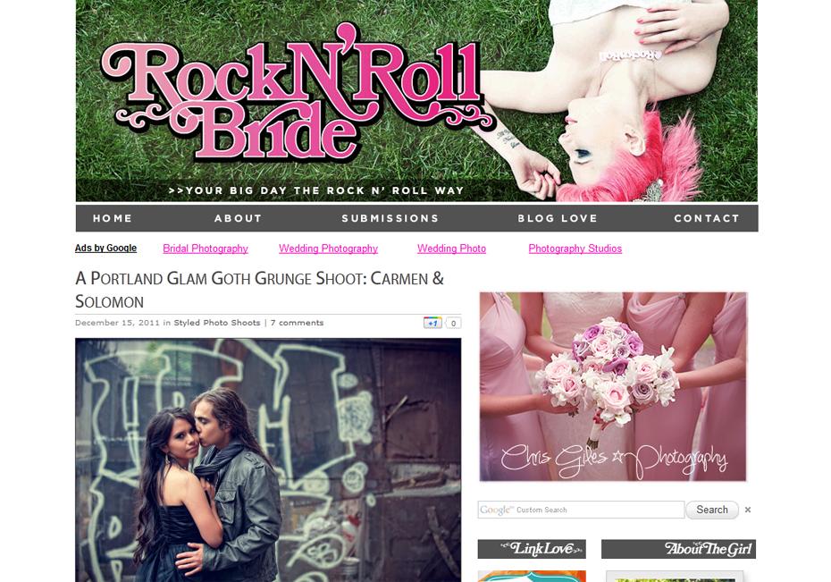 Rock N Roll Bride Portland Goth Glam Grunge Wedding