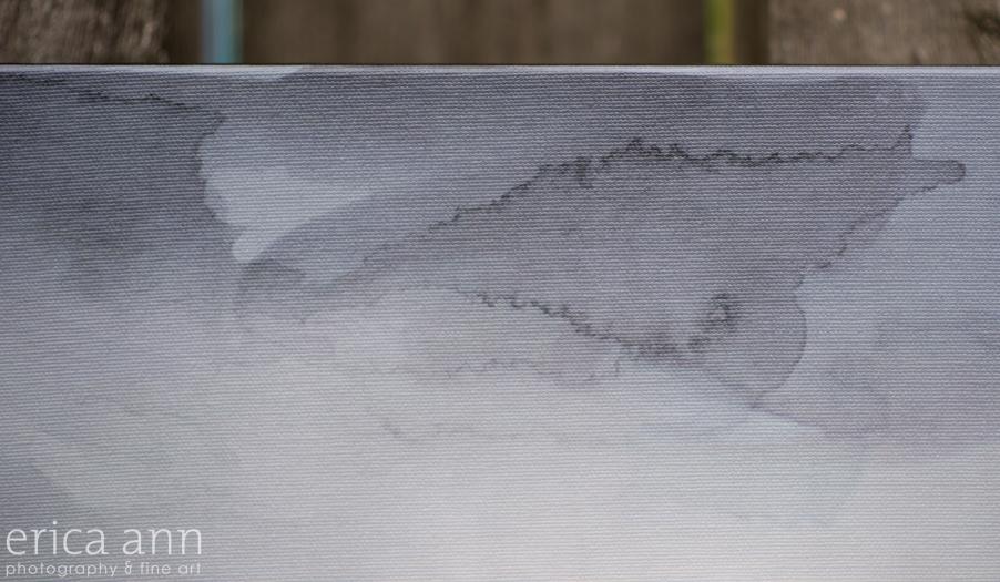 Cannon Beach Elopement Fine Art Watercolor Canvas