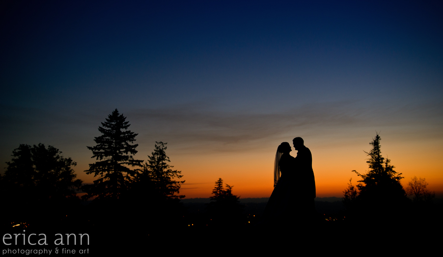 Sunset Wedding Photography at Aerie at Eagle Landing