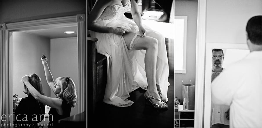 Backyard Hawaiian Wedding Photography  Black and White