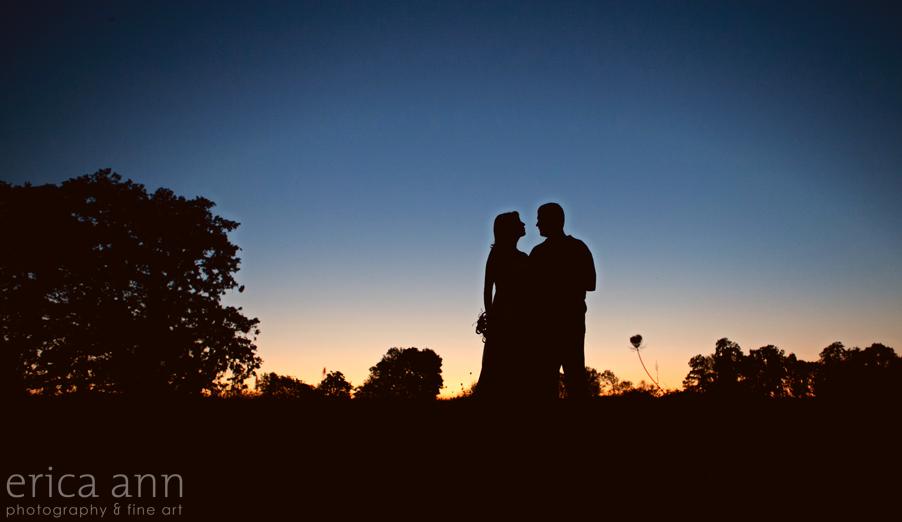 Backyard Hawaiian Wedding Photography Silhouette