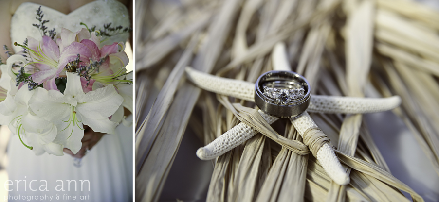 Backyard Hawaiian Wedding Photography  Rings