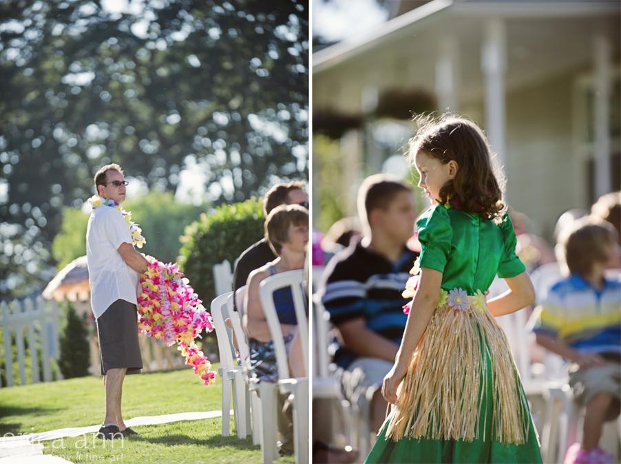 Backyard Hawaiian Wedding Photography Guests