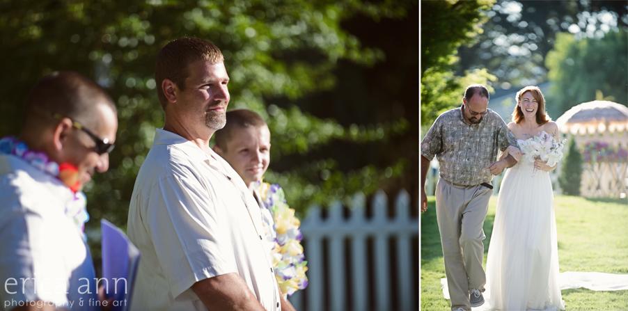 Backyard Hawaiian Wedding Photography Ceremony
