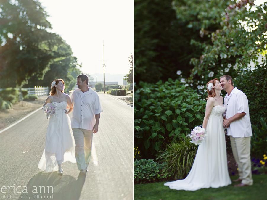 Backyard Hawaiian Wedding Photography Bride and Groom
