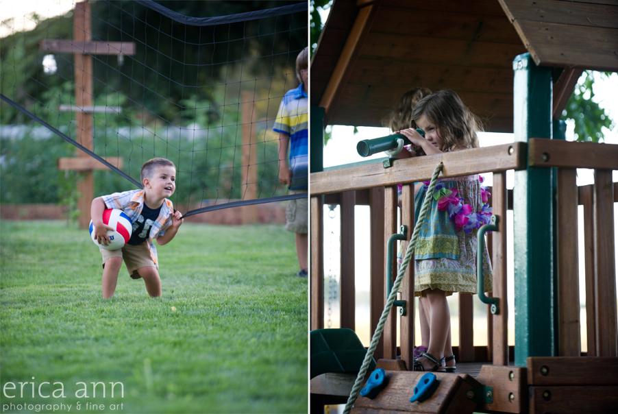 Backyard Hawaiian Wedding Photography Kids